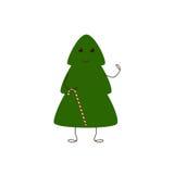 Caráter da árvore de Natal com bastão de doces Foto de Stock