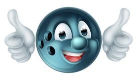 Caráter da bola de boliches dos desenhos animados ilustração royalty free