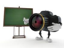 Caráter da câmera com quadro-negro vazio ilustração do vetor