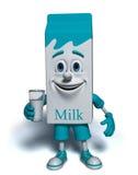Caráter da caixa do leite Foto de Stock