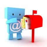 Caráter da caixa postal 3D Imagem de Stock Royalty Free