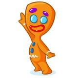 Caráter da cookie do Natal do homem de pão-de-espécie Ilustração do vetor Fotos de Stock Royalty Free