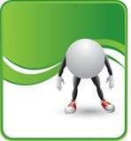 Caráter da esfera do pong do sibilo Imagens de Stock Royalty Free