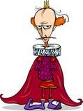 Caráter da fantasia dos desenhos animados do rei ilustração stock
