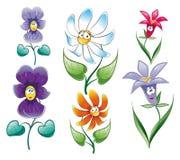Caráter da flor ilustração stock