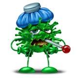 Caráter da gripe do inverno ilustração stock