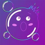 Caráter da ilustração dos desenhos animados do vetor Sabão das bolhas Kawaii ilustração royalty free