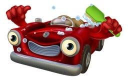 Caráter da lavagem de carros Imagem de Stock Royalty Free