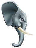 Caráter da mascote do elefante Fotos de Stock