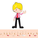 Caráter da mascote do negócio Ilustração Royalty Free