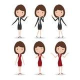 Caráter da mulher de negócio Imagens de Stock Royalty Free