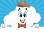 Caráter da nuvem dos desenhos animados do divertimento Foto de Stock Royalty Free