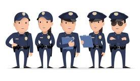 Caráter da polícia ilustração stock