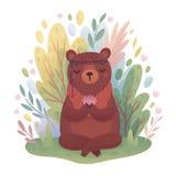 Caráter de Boho da floresta imagem de stock royalty free