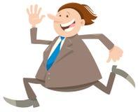 Caráter de corrida feliz do homem de negócios ou do homem ilustração do vetor
