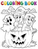 Caráter 5 de Dia das Bruxas do livro para colorir ilustração royalty free