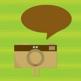 Caráter de fala da câmera Imagem de Stock Royalty Free