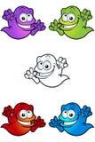 Caráter de Ghost dos desenhos animados Fotos de Stock