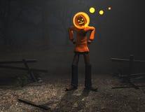 Caráter de Halloween do homem da abóbora Imagem de Stock Royalty Free