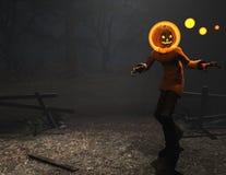 Caráter de Halloween do homem da abóbora Foto de Stock Royalty Free