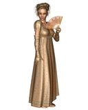 Caráter de Jane Austen - 2 Imagens de Stock
