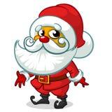 Caráter de Papai Noel no fundo branco Ilustração do vetor para o cartão de Natal Imagem de Stock