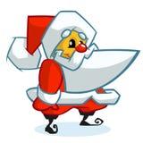 Caráter de Papai Noel no fundo branco Ilustração do vetor para o cartão de Natal Imagem de Stock Royalty Free