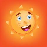 Caráter de Sun Imagem de Stock