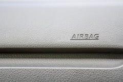 Caráter do airbag no fundo preto Imagem de Stock Royalty Free