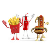Caráter do alimento - fast food Imagens de Stock Royalty Free