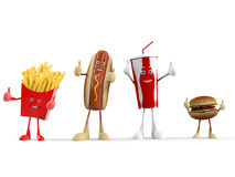 Caráter do alimento - fast food Fotos de Stock Royalty Free
