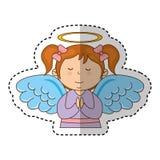 Caráter do anjo da menina ilustração do vetor