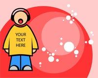 Caráter do avatar do DJ Imagem de Stock