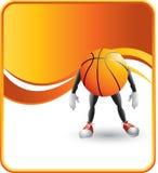Caráter do basquetebol Foto de Stock Royalty Free