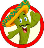 Caráter do cacto dos desenhos animados Imagem de Stock Royalty Free