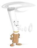 Caráter do cigarro dos desenhos animados Fotos de Stock