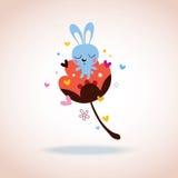 Caráter do coelho no amor Fotos de Stock