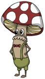 Caráter do cogumelo Imagens de Stock Royalty Free