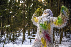 Caráter do conto de fadas do abominável homem das neves na foto exterior da fantasia da floresta do inverno Foto de Stock Royalty Free