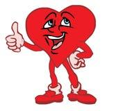 Caráter do coração do amor Fotografia de Stock Royalty Free