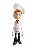 Caráter do cozinheiro chefe com pose estando ilustração do vetor