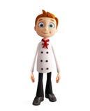 Caráter do cozinheiro chefe com pose estando ilustração royalty free