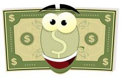 Caráter do dólar americano dos desenhos animados Imagens de Stock Royalty Free