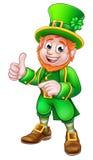 Caráter do dia do St Patricks do duende dos desenhos animados ilustração royalty free