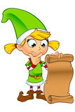 Caráter do duende da menina no verde Imagens de Stock Royalty Free