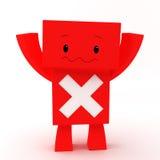Caráter do erro 3D Imagens de Stock