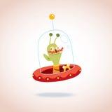 Caráter do estrangeiro dos desenhos animados Foto de Stock