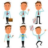 Caráter do homem de negócios Fotos de Stock