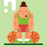 Caráter do jogo Jogador de basquetebol com a bola dois Illustra do vetor Foto de Stock