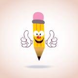 Caráter do lápis da mascote Fotos de Stock Royalty Free